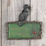 spell casting in progress - cat plaque
