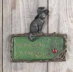 spell casting in progress - cat plaque