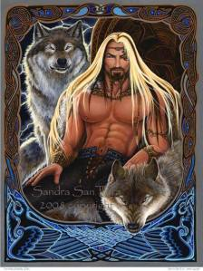 Buff All-Father w Wolf